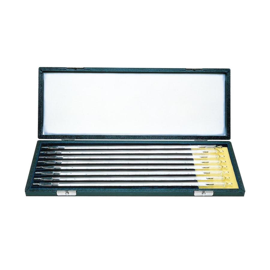ケニス 標準温度計 二重管 8本セット(箱入)