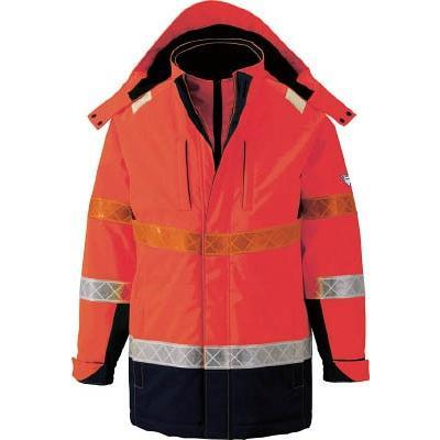 ジーベック 801 高視認防水防寒コート L オレンジ 80182L