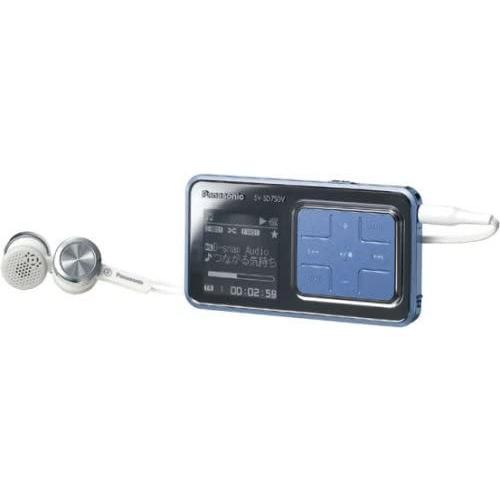 パナソニック SDオーディオプレーヤー ブルー SV-SD750V-A