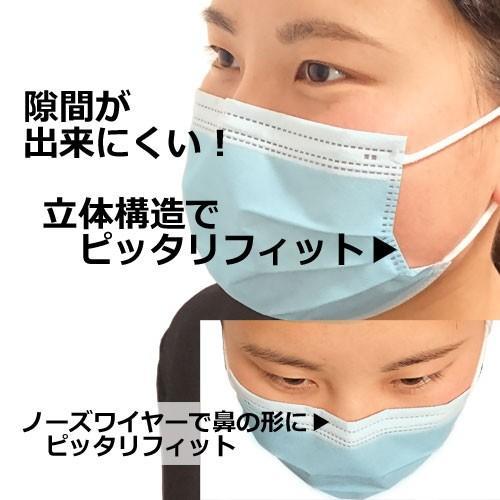 マスク <1箱>50枚 ふつうサイズ メディカルマスク 不織布マスク 立体3層構造 医療レベルのメルトブローンフィルター採用 CE認証済み 国内発送|egmart|04