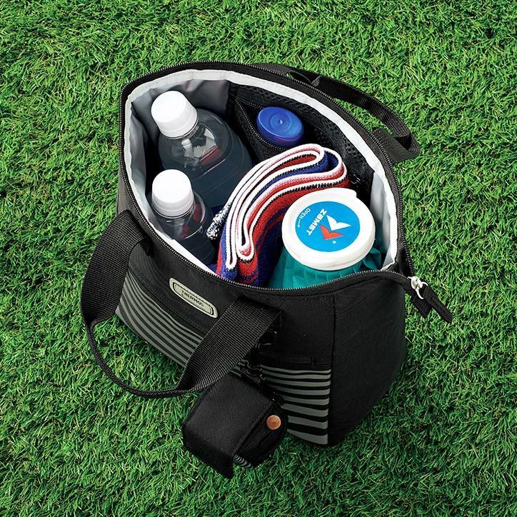 THERMOS サーモス 保冷ラウンドトートバッグ(ゴルフボールケース付き) REU-001(暑さ対策グッズ ペットボトル 冷却 ひんやり)|egolf|02
