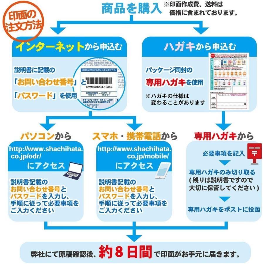 シャチハタ 印鑑 ハンコ キャップレス9N メールオーダー式 XL-CLN1/MO ブルー|eh-style