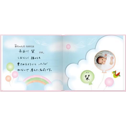 誕生 2、3ヵ月 写真ですぐ作れるしかけ絵本 出産祝い 手形キット アルバムブック たんじょうものがたり/手形キット付き ehon-netcom 07