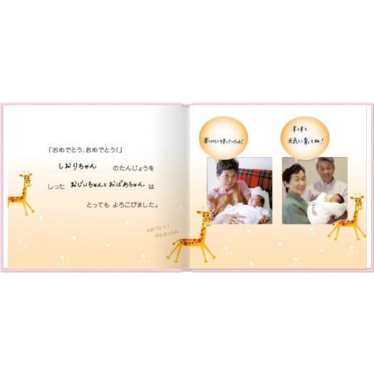 誕生 2、3ヵ月 写真ですぐ作れるしかけ絵本 出産祝い 手形キット アルバムブック たんじょうものがたり/手形キット付き ehon-netcom 08