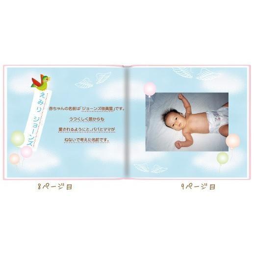 エコー写真 アルバム 出産祝い ベビーギフト 赤ちゃんのうまれたとき/絵本が作れるお仕立て券 ehon-netcom 07