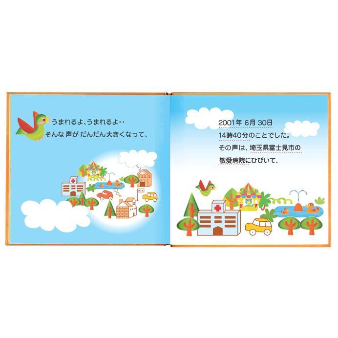 写真とメッセージで綴るアルバムえほん 誕生日プレゼント 名前の由来 成長記録 絵本が作れる バースディブック/お仕立て券 ehon-netcom 03