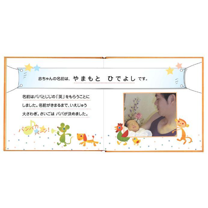 写真とメッセージで綴るアルバムえほん 誕生日プレゼント 名前の由来 成長記録 絵本が作れる バースディブック/お仕立て券 ehon-netcom 05