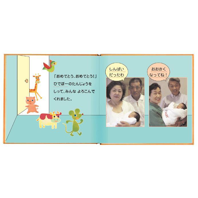 写真とメッセージで綴るアルバムえほん 誕生日プレゼント 名前の由来 成長記録 絵本が作れる バースディブック/お仕立て券 ehon-netcom 06
