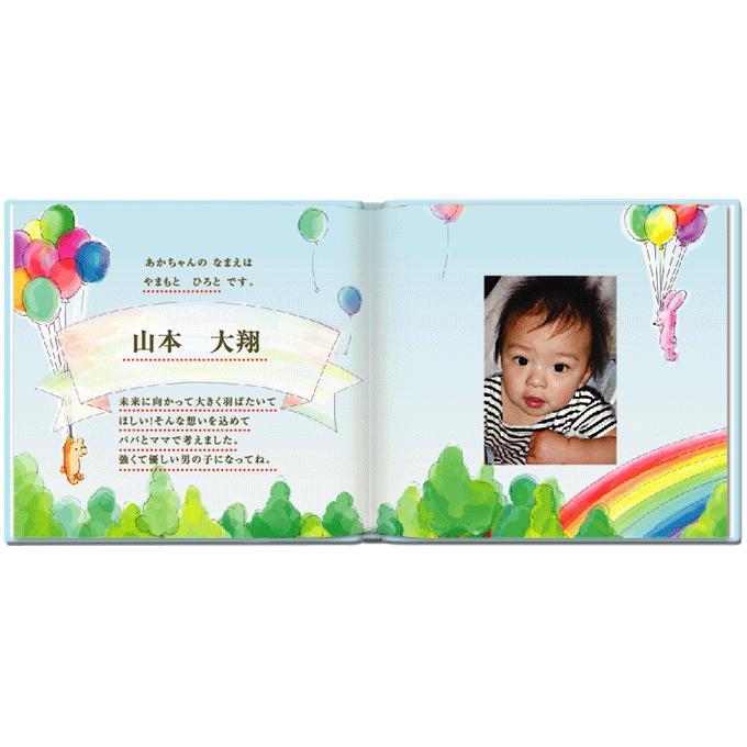 誕生 成長記録 写真とメッセージで綴る 絵本が作れる 出産祝い Birth Storyバースストーリー/お仕立て券 ehon-netcom 07