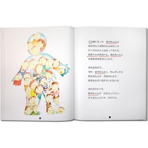 誕生日プレゼント 名前入りオリジナル絵本 母 女性 女友達 男性 オーダーメイド おたんじょうびのほん 大人向き/スタンダード|ehon-netcom|14