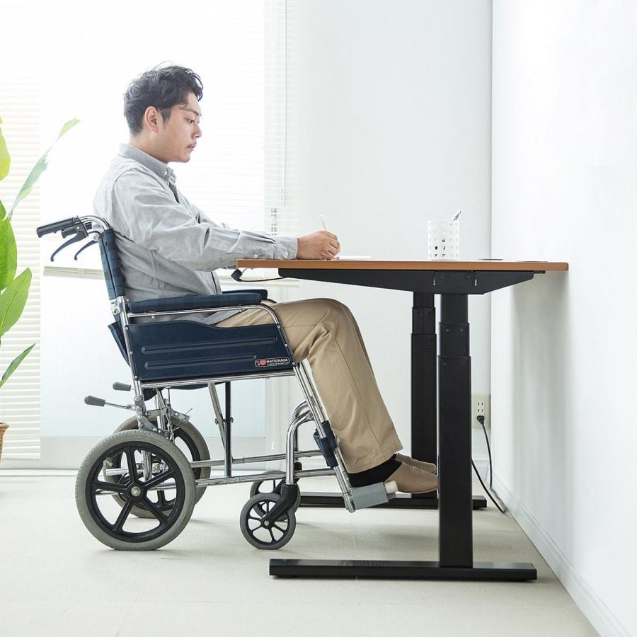 サンワダイレクト スタンディングデスク 電動 高さ調節 幅120cm 奥行70cm 日本製 日本製 座り過ぎ解消 障害物検知機能付 パソコンデスク