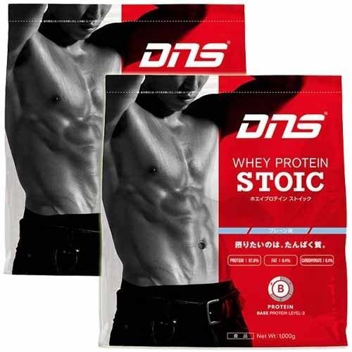 ディーエヌエス(DNS) ホエイプロテインストイック プレーン 1kg 2袋セット