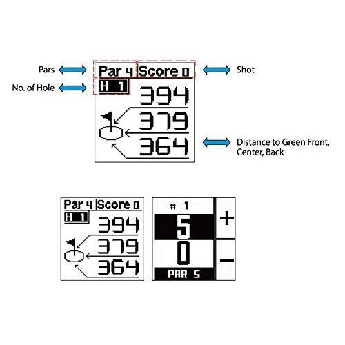 POSMA GT2 Golf Trainer + Activity Tracking GPS Golf Watch Range Finder