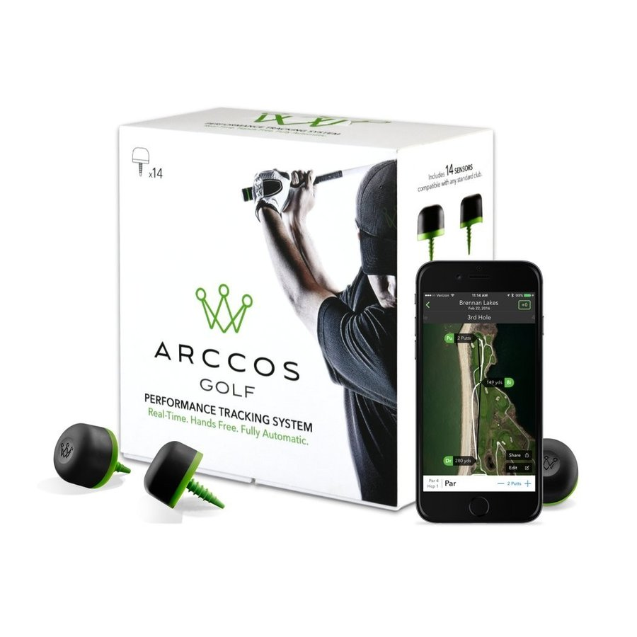 Arccos Golf Performance Tracking System, GPS + Shot Tracking + Tour An