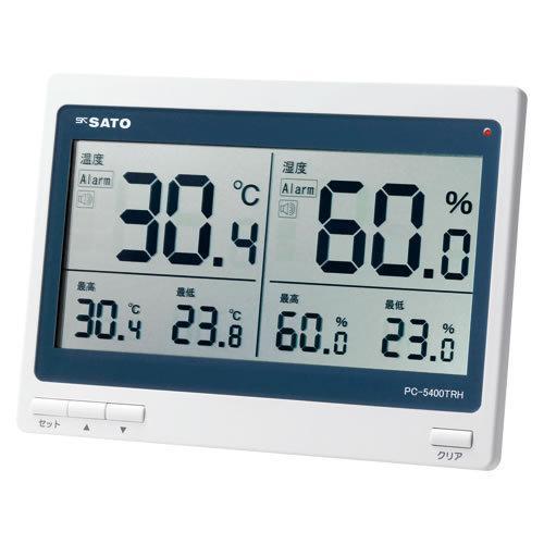 ★まとめ買い★佐藤計量器 デジタル温湿度計 PC-5400TRH ×10個【返品·交換·キャンセル不可】【イージャパンモール】