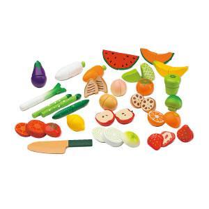 【キャッシュレス5%還元】磁石でくっつくおままごと野菜と果物セット【返品・交換・キャンセル不可】【イージャパンモール】