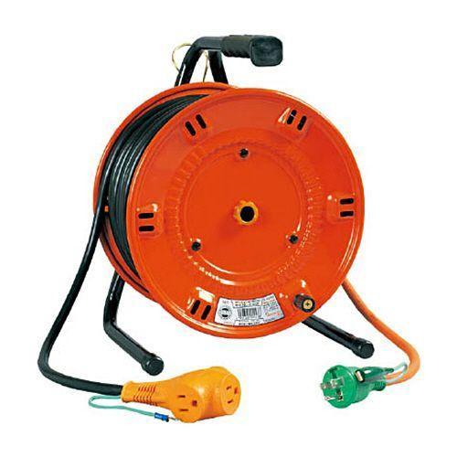 【キャッシュレス5%還元】日動工業 延長コード型ドラム びっくリール(単相100V) 20m アース付 1台