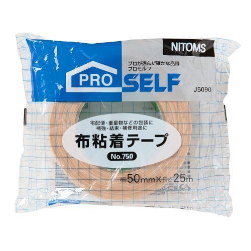 【キャッシュレス5%還元】ニトムズ 布粘着テープ No.750POS 50mm×25m 1セット(30巻)