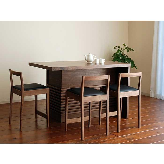 ギフト ミーア120カウンターテーブル ウォールナット 店舗 Mia120RN CounterTable W120×D80×H85