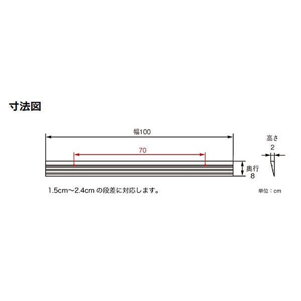 アロン化成 安寿 段差スロープEVA1000  #20  535-612 (幅100×奥行8×高さ2cm) 介護用品 ekaigoshop2 03
