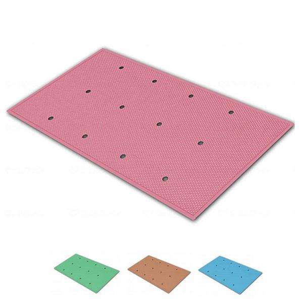 滑り止めお風呂マット ダイヤミニマット 穴開きタイプ SDMH30 (30×50×0.3cm) シンエイテクノ 介護用品 ekaigoshop2