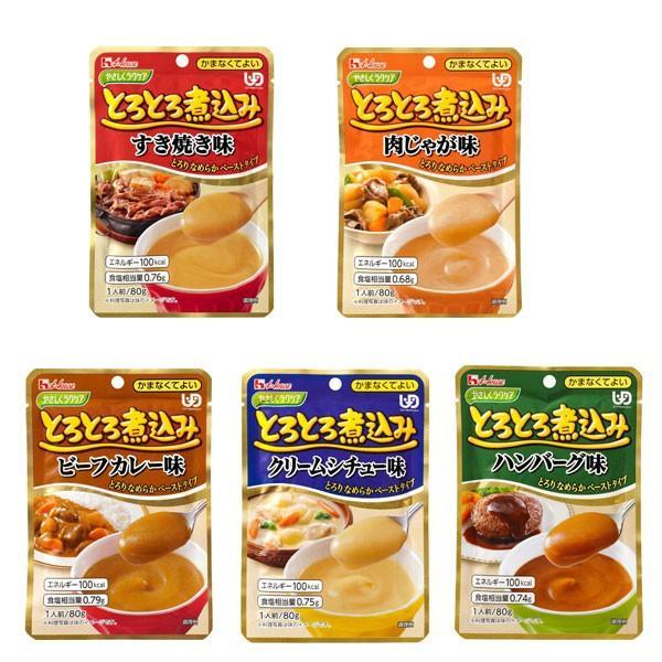 ハウス食品 介護食 区分4 やさしくラクケア ☆最安値に挑戦 5種5個セット 介護用品 かまなくて良い とろとろ煮込みのレトルト 倉庫