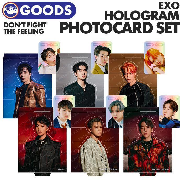 数量限定1次予約 EXO DON'T FIGHT THE FEELING ホログラムフォトカードセット HOLOGRAM SET SMTOWN 公式グッズ PHOTO キャンセル不可 CARD エクソ 割引も実施中 安全