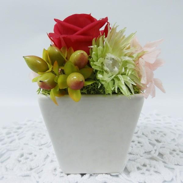 プリザ(ハーベスト)贈り物プリザーブドフラワー 赤いバラがおすすめ 人気のお花|ekoukai