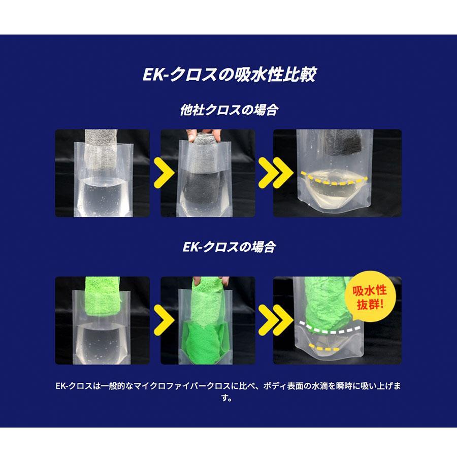 マイクロファイバークロス 洗車タオル EK-クロス  クリーニングタオル 洗車用品 超吸水 傷防止 高品質 メーカー公式|ektopshop|05