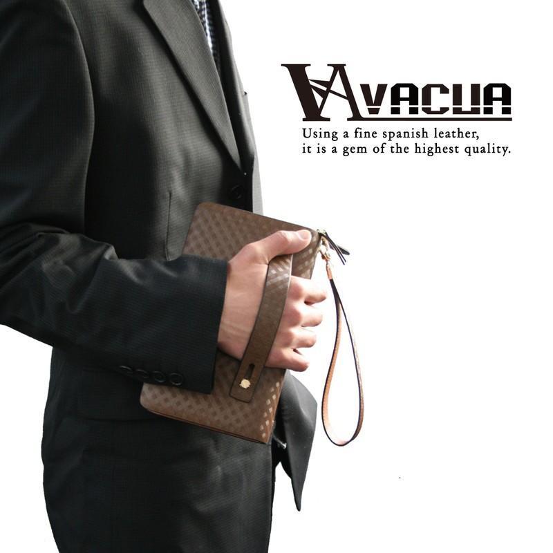 VACUA ヴァキュア セカンドバッグ クラッチバッグ メンズ メンズセカンドバッグ バッグ 鞄 本革 スペインレザー レザー ダブルファスナー メッシュ VA-004|el-diablo|02