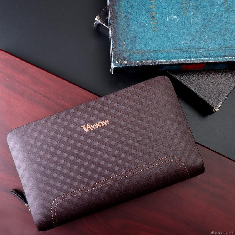 VACUA ヴァキュア セカンドバッグ クラッチバッグ メンズ メンズセカンドバッグ バッグ 鞄 本革 スペインレザー レザー ダブルファスナー メッシュ VA-004|el-diablo|05