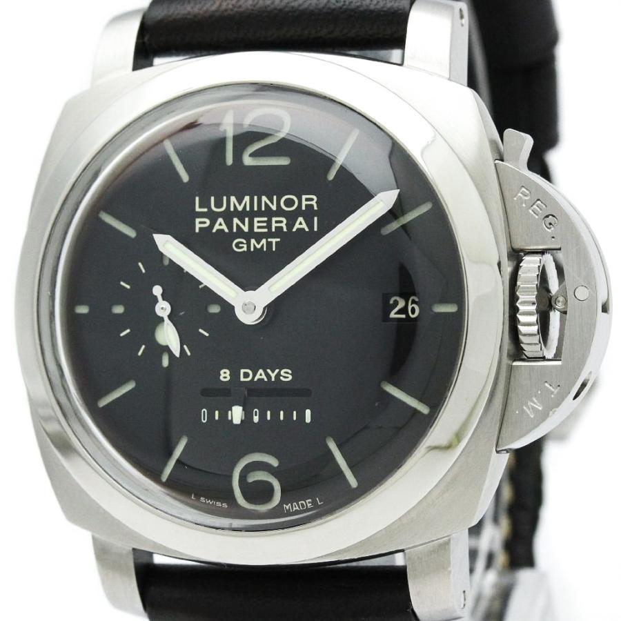 新品 パネライ ルミノール1950 8デイズ GMT 時計 PAM00233 ステンレススチール レザー パネライ 手巻き メンズ 時計 PAM00233, はぴねすくらぶ:de90a52b --- airmodconsu.dominiotemporario.com