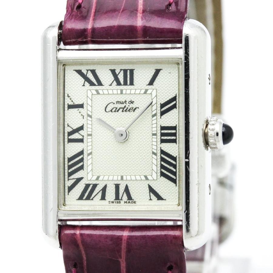 【お買得】 カルティエ マストタンク 時計 レディース 2000年 限定 ステンレススチール レザー クォーツ レディース カルティエ 時計 W1016230, 可愛い腕時計&コスメ通販GIRAFF:8114bcac --- airmodconsu.dominiotemporario.com