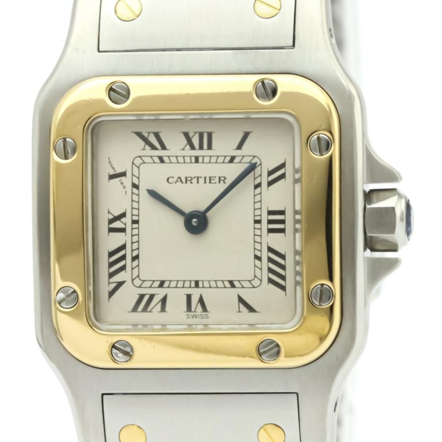 最新デザインの カルティエ サントスガルベ SM K18 ゴールド ステンレススチール クォーツ レディース 時計 166930 【】, GEKIROCK CLOTHING c3e28819