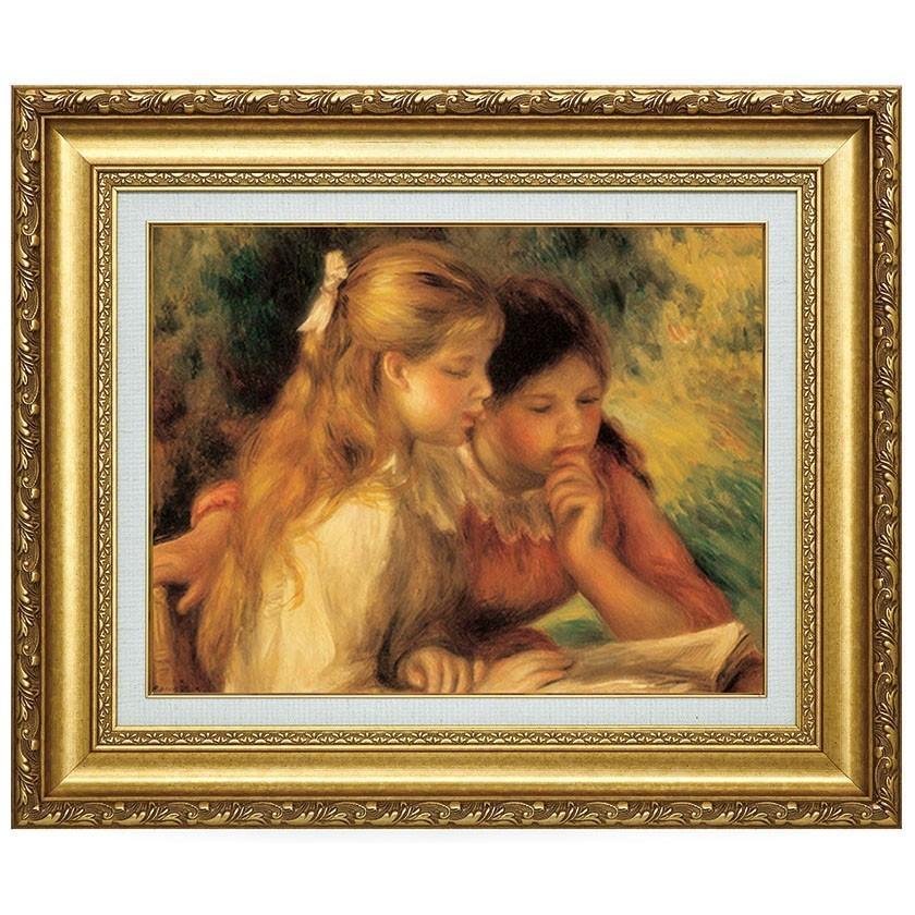 ルノワール 読書する二人の少女 110451 F6号 立体複製名画 美術品 レプリカ - アートの友社