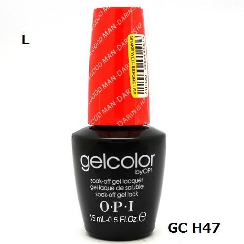 新品 送料無料●OPI gelcolor ジェルカラー   A GOOD MAN-DARIN IS HARD TO FIND  GC H47  15ml●オーピーアイ ジェルカラー●LED elelerueru