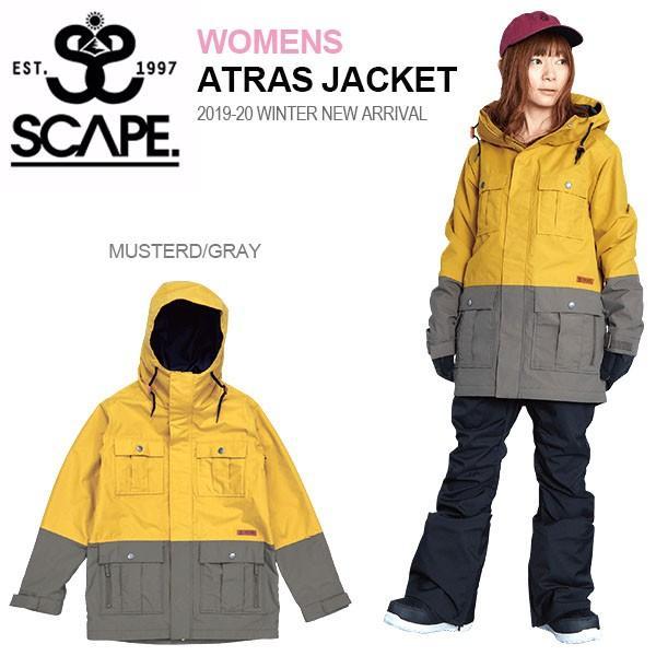 スノーボードウェア SCAPE エスケープ ATRAS JACKET レディース アトラス ジャケット スノボ 2019-2020冬新作 10%off