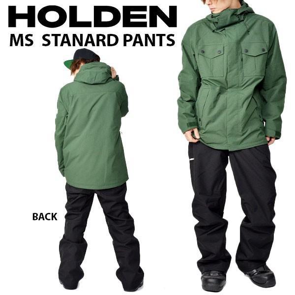 スノーボードウェア HOLDEN ホールデン MS STANDARD PANTS メンズ パンツ 黒 ブラック スノボ ボトムス 2018-2019冬新作 得割20