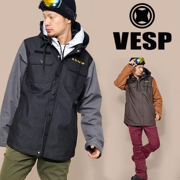 スノーボードウェア VESP ベスプ THREEWAY MILITARY JACKET メンズ VPMJ16-01 3way ジャケット スノボ スノーボード 35%off