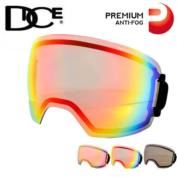 スペアレンズ DICE ダイス HIGH ROLLER ハイローラー 日本正規品 球面レンズ スキー スノーボード スノーゴーグル プレミアムアンチフォグ 20%off