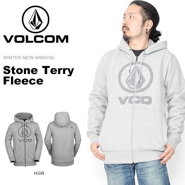 パーカー VOLCOM ボルコム メンズ Stone Terry Fleece フリース ロゴ ジップアップ G2451902 日本正規品 得割20