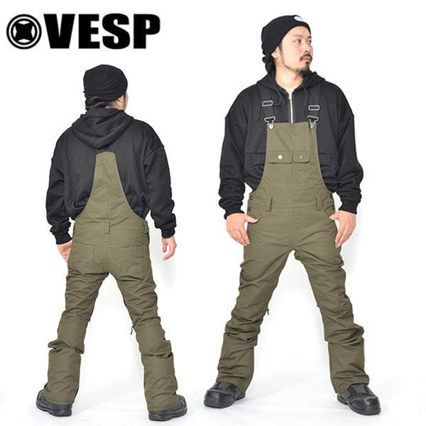 スノーボードウェア VESP ベスプ BIB TIGHT PANTS vpmp18-10 メンズ ビブパンツ スノボ スノーボード ボトムス 2018-2019冬新作 20%off