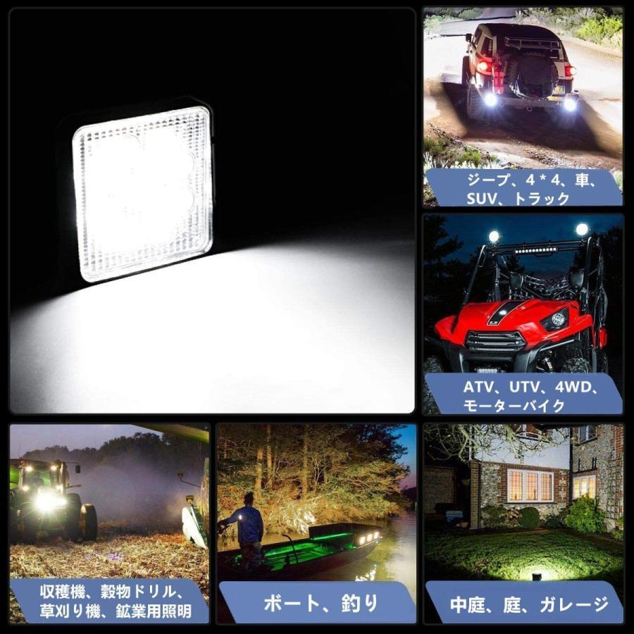 LED作業灯 ワークライト4台 ト48W 投光器 LED投光器4台セット elexparts 07