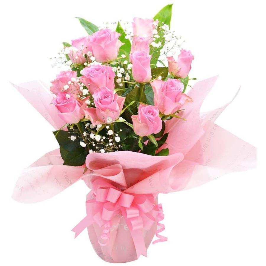 ピンクバラ ボリュームスタンディングブーケ 花束 プレゼント 贈り物 バラ アレンジ elfleur