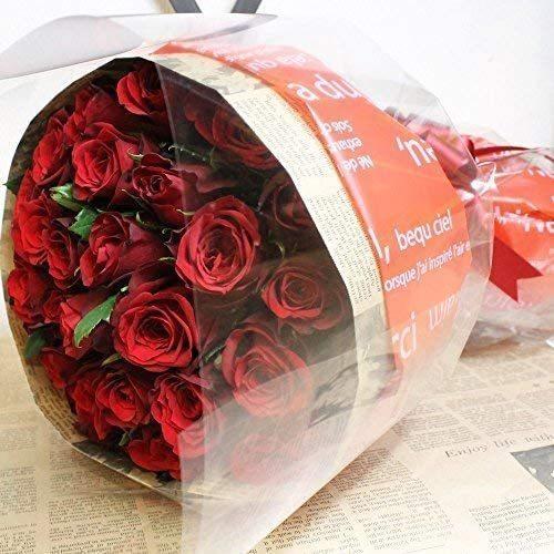 レッド・ピンクから選べる バラの花束 60本 結婚記念日 プレゼント 薔薇 花 ギフト 贈り物 elfleur 02