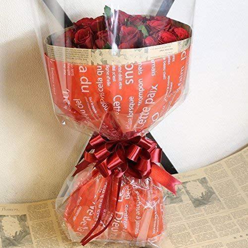レッド・ピンクから選べる バラの花束 60本 結婚記念日 プレゼント 薔薇 花 ギフト 贈り物 elfleur 03