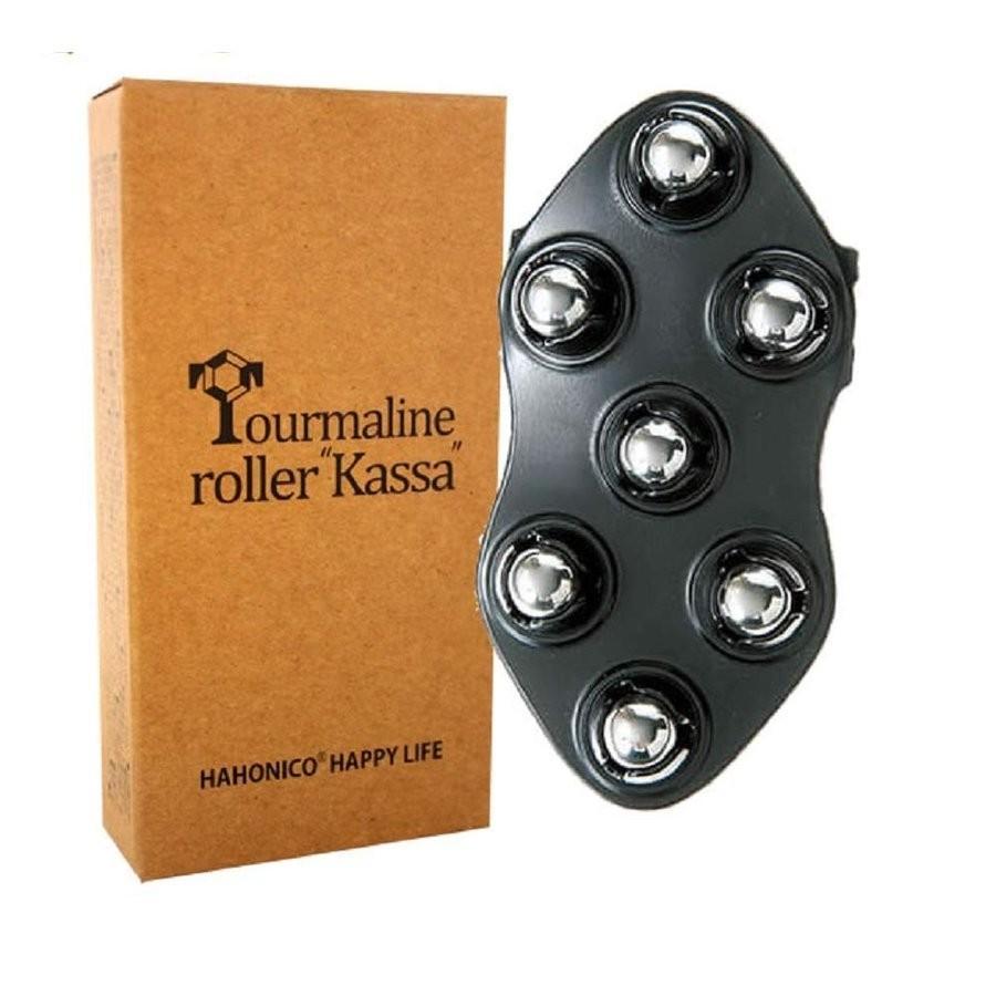 ハホニコ トルマリンローラー 送料無料激安祭 かっさ 品質保証 ブラック 頭皮ケア用カッサ