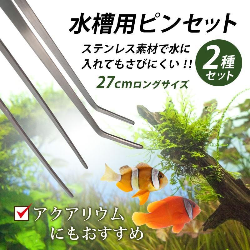 ピンセット 水槽 水草 ハーバリウム ロング 新作製品 世界最高品質人気 ステンレス ストレート カーブ 熱帯魚 アクアリウム ギフト 掃除 水槽用 メダカ 27cm
