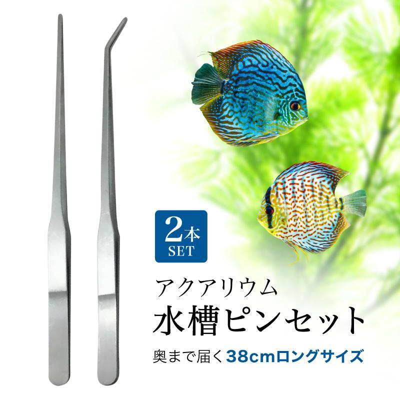 ハーバリウム ピンセット ロング 38cm 2本セット ストレート カーブ ステンレス 税込 水草 メンテナンス アイテム勢ぞろい アクアリウム フラワー 水槽用 花 熱帯魚