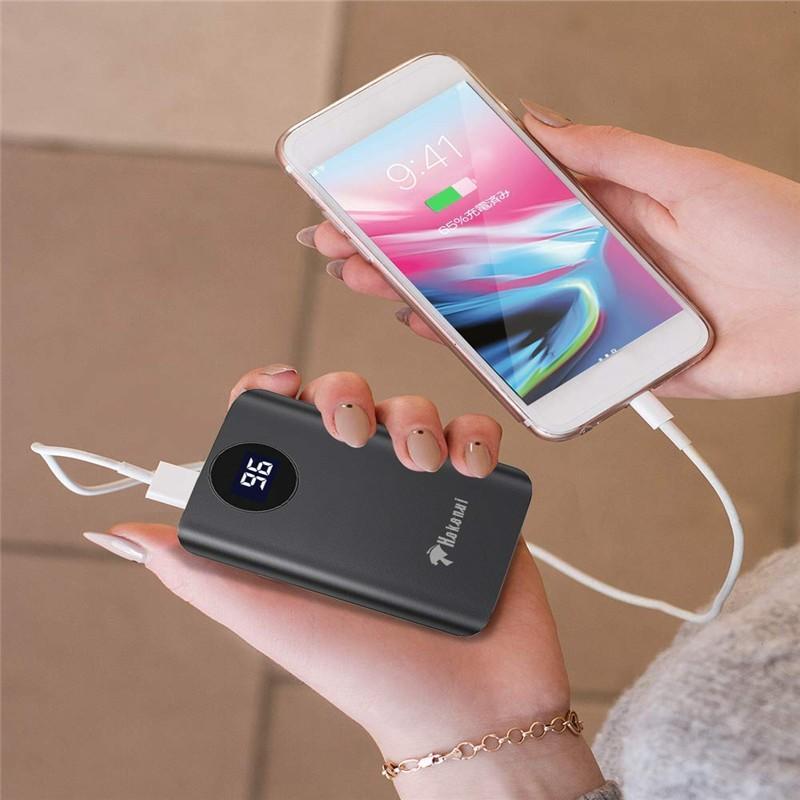 モバイルバッテリー 大容量 超小型 充電器 軽量 10000mAh 大容量 2A急速充電 薄型 2USBポート 2台同時充電 PSE認証済(d28)|elsies|07